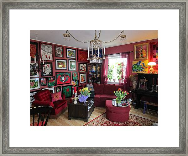 An Artists Livingroom Framed Print