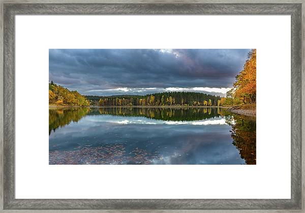 An Autumn Evening At The Lake Framed Print