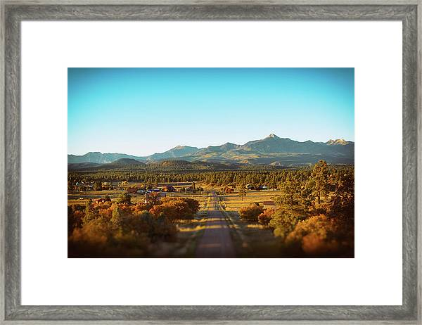 Framed Print featuring the photograph An Autumn Evening In Pagosa Meadows by Jason Coward