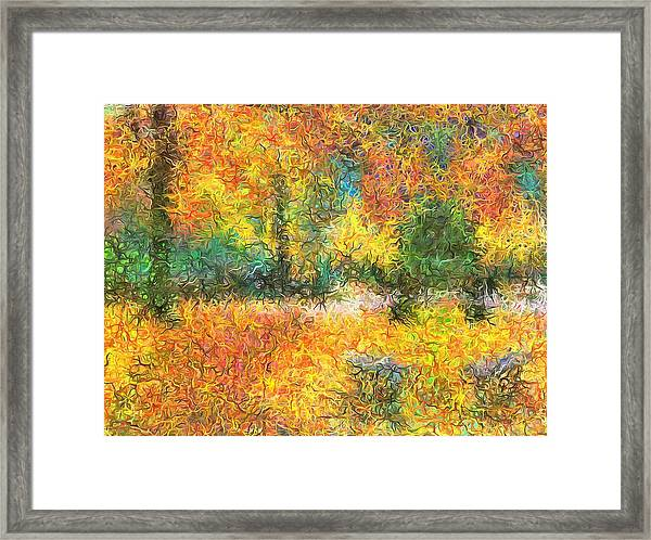 An Autumn In The Park Framed Print