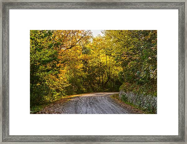 An Autumn Landscape - Hdr 2  Framed Print