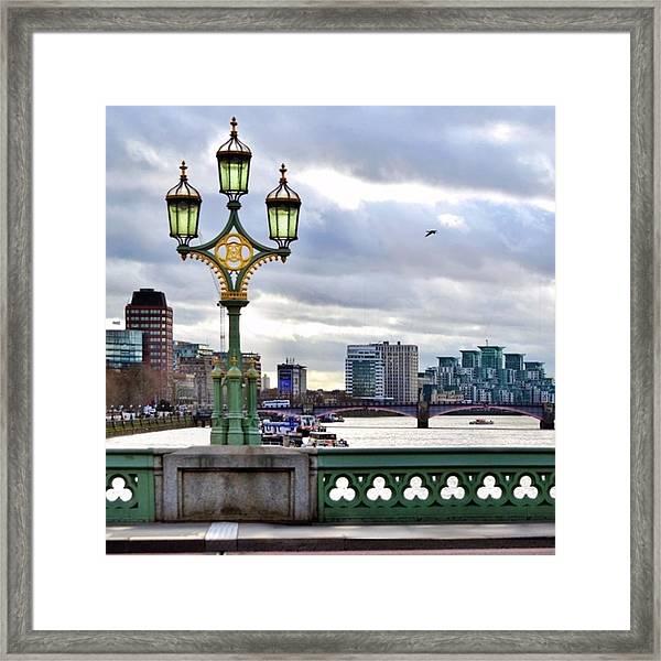An Empty Westminster Bridge • #london Framed Print
