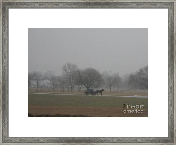 An Evening Buggy Ride Framed Print