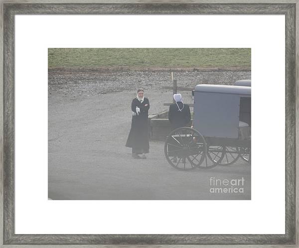 An Evening Goodbye Framed Print