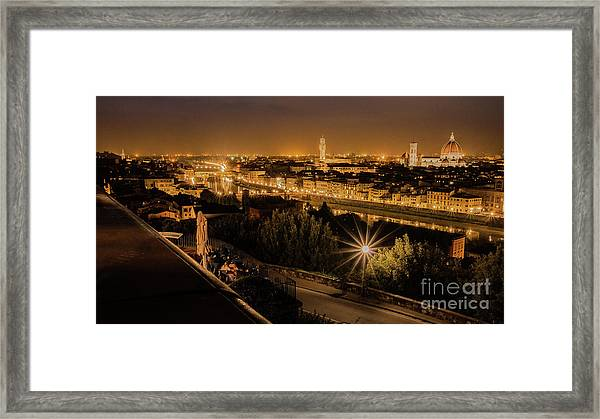 An Evening In Florence Framed Print