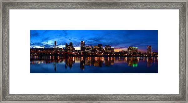 An Evening In Portland Framed Print