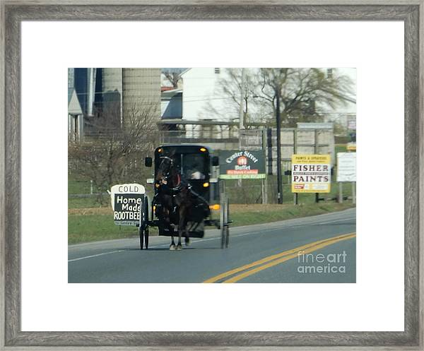 An Evening Ride Framed Print