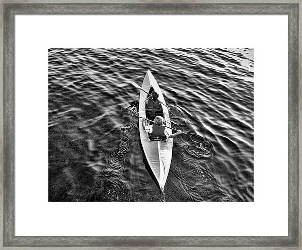 An Evening Row Bandw Framed Print