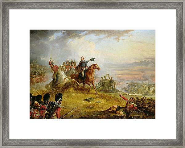 An Incident At The Battle Of Waterloo Framed Print