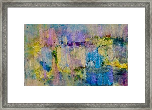 An Iridescent Oil Slick  Framed Print