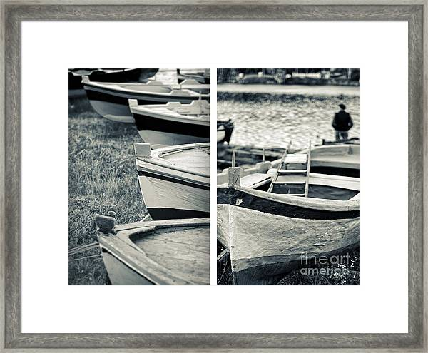 An Old Man's Boats Framed Print