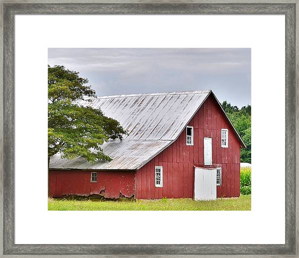 An Old Red Barn Framed Print