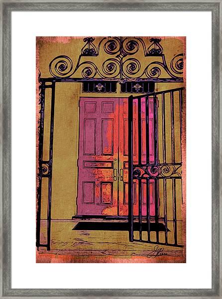An Open Gate Framed Print