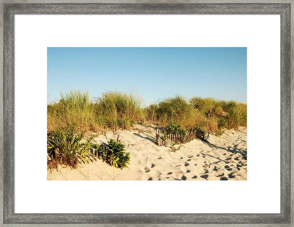 An Opening In The Fence - Jersey Shore Framed Print