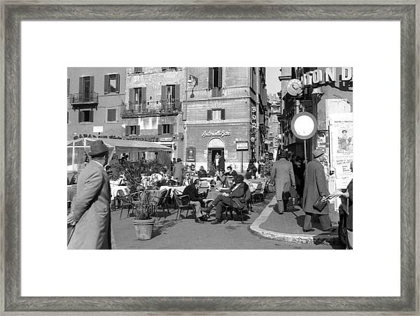 An Ordinary Day In Trastevere Framed Print