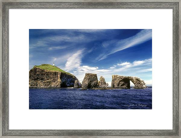 Channel Islands National Park - Anacapa Island Framed Print
