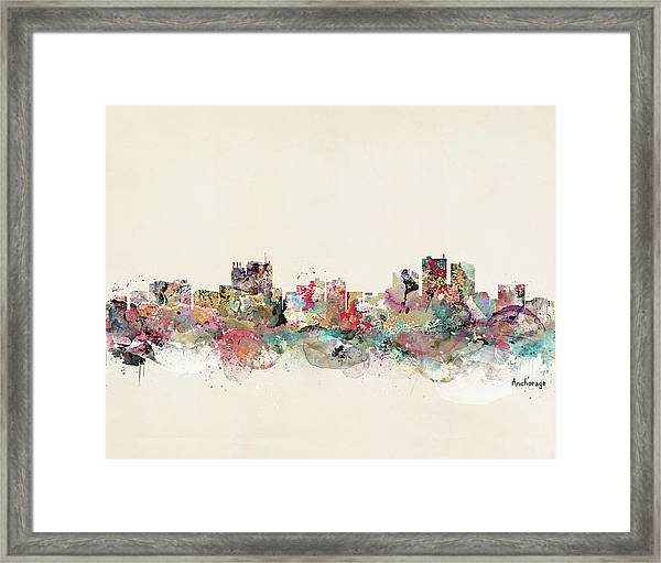 Anchorage Alaska Framed Print