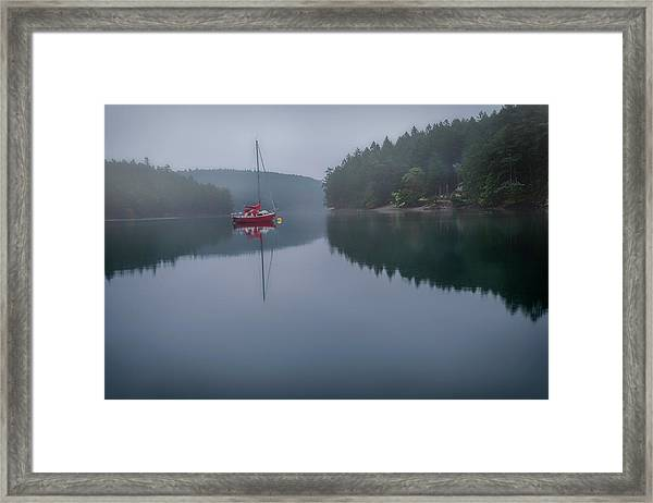 Anchored At Horton Bay Framed Print