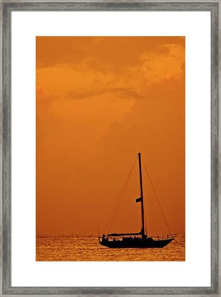 Anchored Framed Print