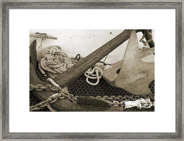 Anchors Framed Print