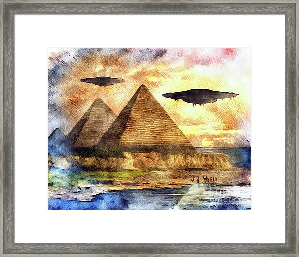 Ancient Aliens And Ancient Egypt Framed Print