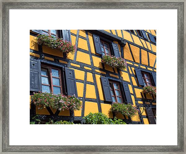 Ancient Alsace Auberge Framed Print
