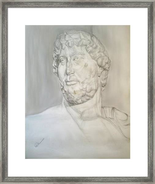 Ancient Greek Statue Framed Print