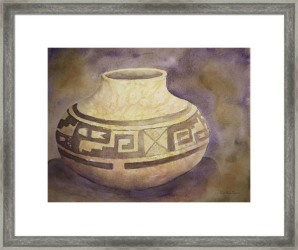 Ancient Pottery Framed Print