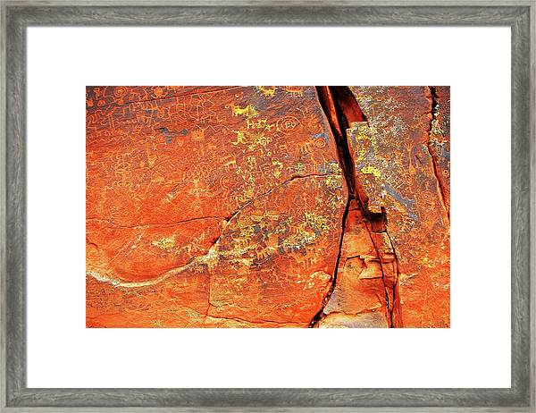 Ancient Scribeing Framed Print