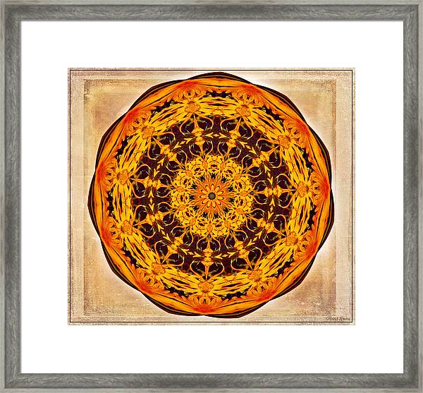 Ancient Sun Kaleidoscope Framed Print