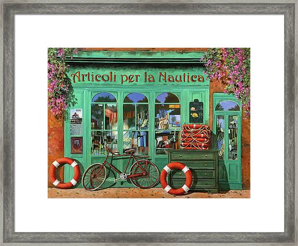 Ancora Una Bicicletta Rossa Framed Print