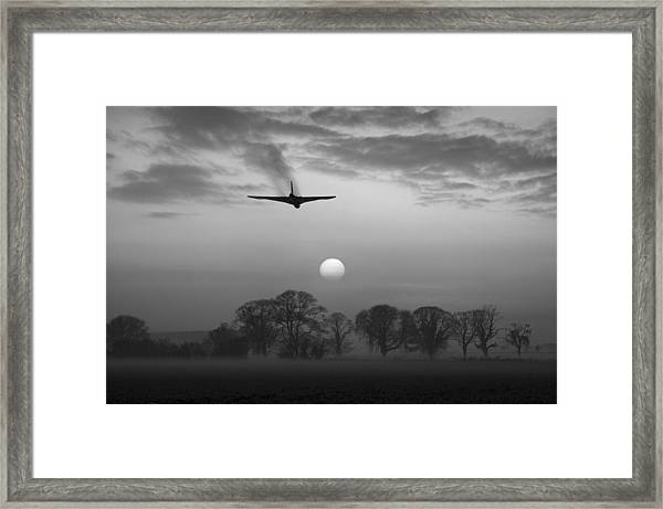 And Finally Black And White Version Framed Print