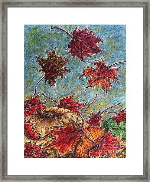 And The Leaves Came Tumbling Down Framed Print