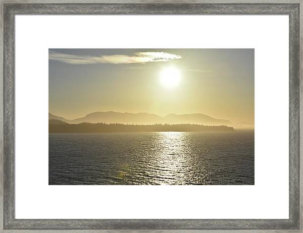 And The Sun Goes Down Framed Print