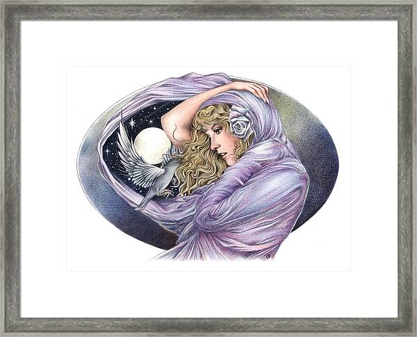 And The Wind Became Crazy Framed Print