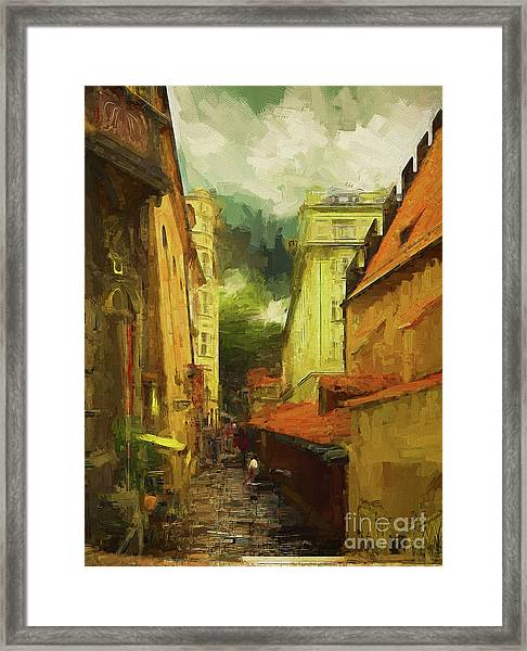 And Then It Rained Framed Print