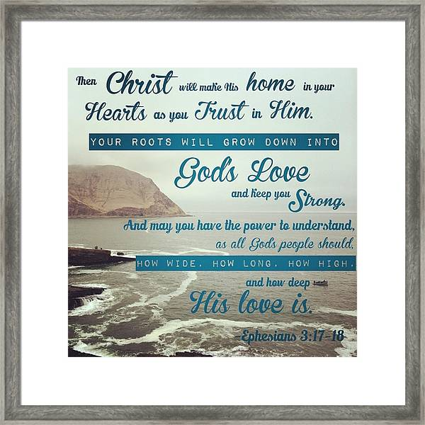 And This Is God's Plan: Both Gentiles Framed Print