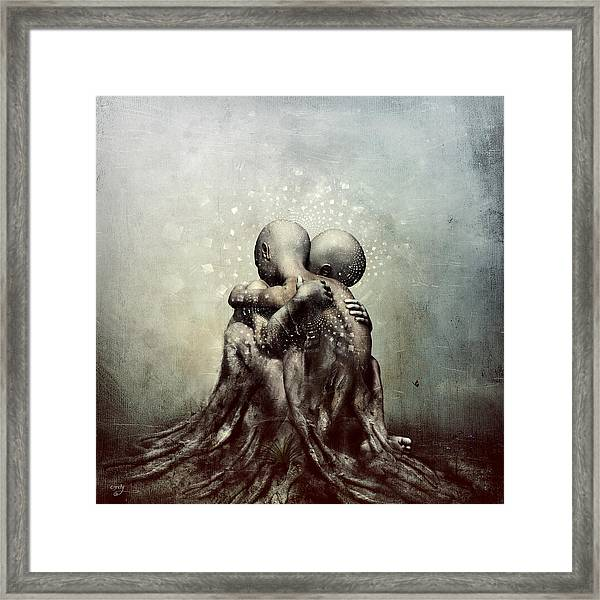 And Though We Fade Away Framed Print