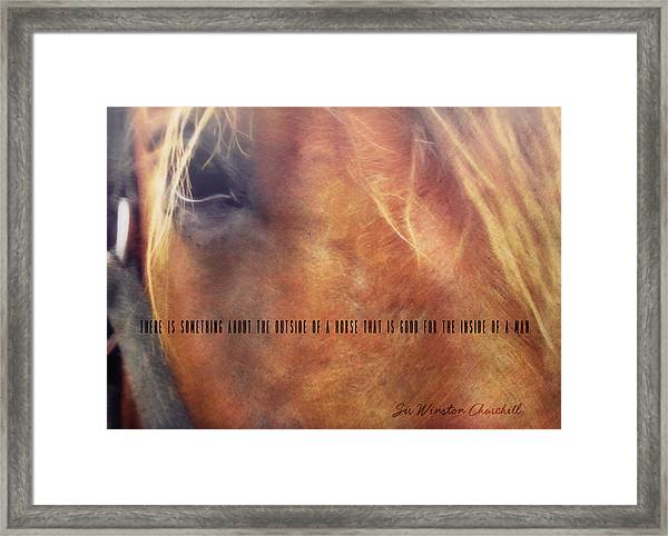 Andalusian Eye Quote Framed Print