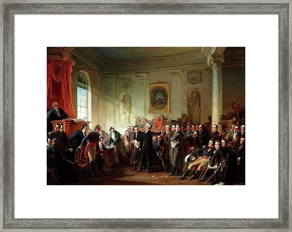 Andrew Jackson Before Judge Hall, New Orleans Framed Print