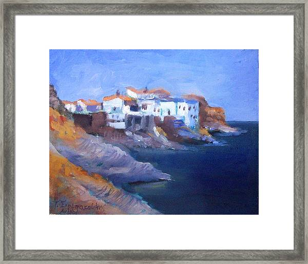 Andros Island Framed Print by George Siaba