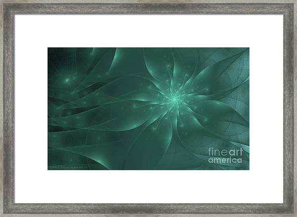 Framed Print featuring the digital art Anemone by Sandra Bauser Digital Art