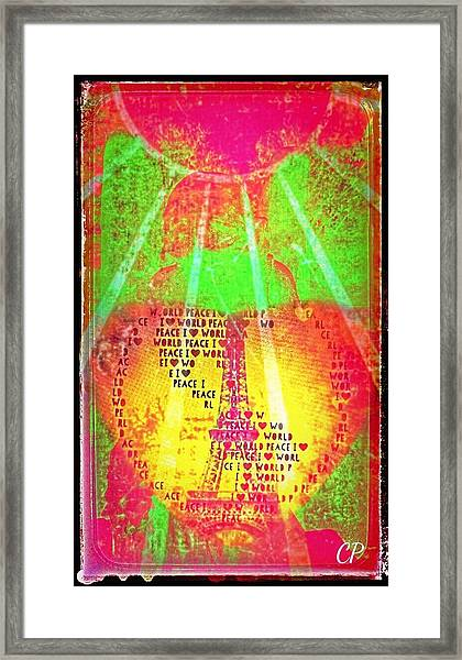 Ange De Paix Mondiale Framed Print
