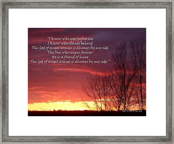 Angel Armies  Framed Print by Diane E Berry