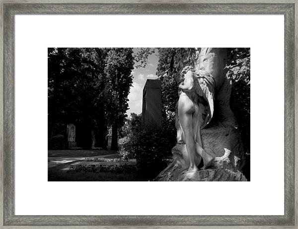 Angel At The Grave Framed Print
