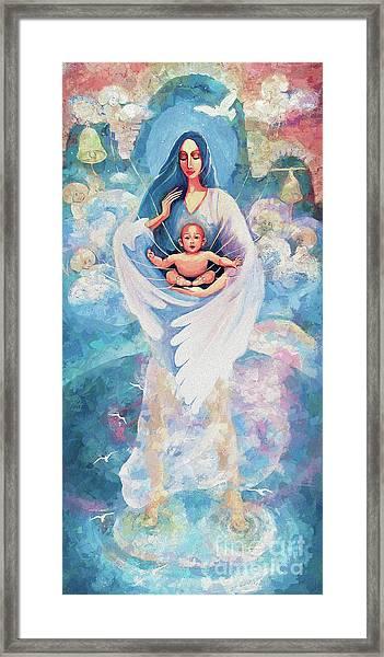 Angel Blessing Framed Print