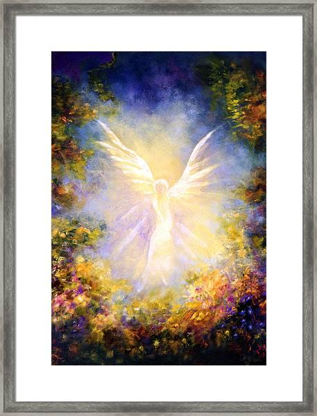Angel Descending Framed Print