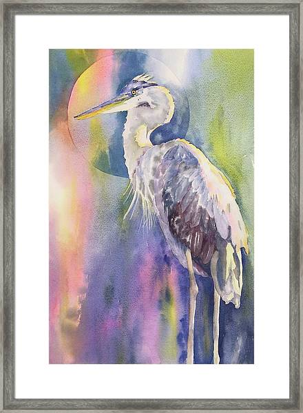 Angel Heron Framed Print