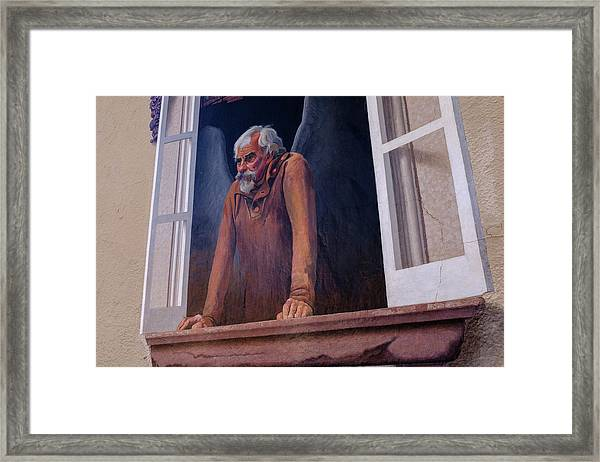 Angel In A Window In Frederick Maryland Framed Print
