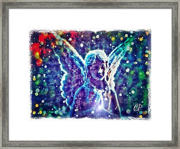 Angel In The Snow Framed Print